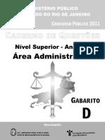 Analista Area Administrativa Prova D