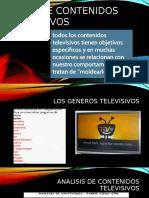 Tipos de Contenidos Televisivos