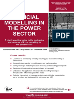 Financial Modelling in Power Sector