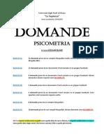 Psicometria - DOMANDE