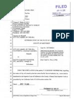 [Proposed] Order to Change Venue 15CV000014 4-08-16