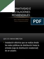 Normatividad e Instalaciones Residenciales