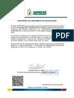 Certificado Empresa Ruc