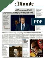 Le Monde 2 en 1 Du Mardi 12 Avril 2016