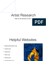 artist movement research