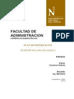 Plan de Exportacion Lana de Alpaaca