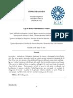 Informe 3 - Ley de Hooke