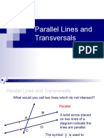 Ch 3-1 Parallel Lines and Transversals