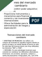 Funciones Del Mercado Cambiario
