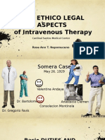 The Ethico Legal Aspects of Intravenous Therapy Basic