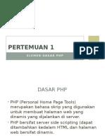 Elemen Dasar PHP