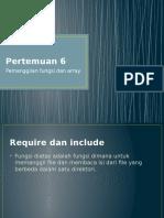 Pemanggilan fungsi dan array