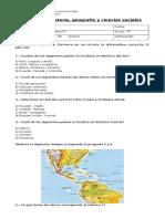Prueba de Historia 4° geografía de america