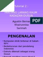 Pantang Larang Kaum KadazanDusun