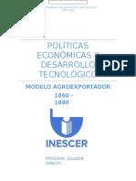 Políticas económicas y desarrollo tecnológico.