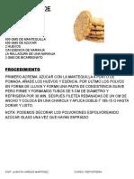 recetario galletas