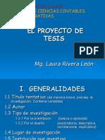 El Proyecto de Tesis- Ucv