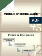 Operacioproyectosnalizacion de La Variable