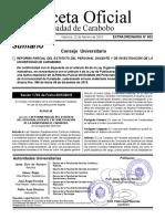 Gaceta Extraordinaria UC 603