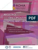 Registro Oncopediatrico Hospitalario Argentino Sobrevida Cancer Infantil 2012