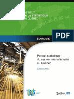 Retrato Estatistico Manufatura Quebec