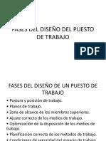 FASES DEL DISEÑO DE PUESTOS DE TRABAJO