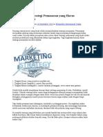 Konsep Dasar Strategi Pemasaran Yang Harus Anda