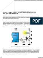 Como Conectar Un Mosfet de Potencia a Un Microcontrolador _ Inventable
