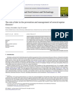 2012- The Role of Diet in the Prevention and Management of Several Equine Diseases 1