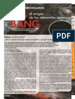 Lectura 1. Del Big Ban Al Origen de Los Elementos Quimicos