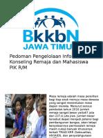 Pedoman Pengelolaan PIK RM 2015