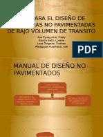 Manual No Pavimentadas