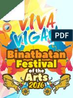 Viva Vigan Binatbatan Festival of the Arts 2016 - Schedule of Activities
