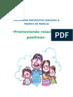 Programs de Prevencion Para Padres Estilos de Crianza
