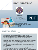 Stabilitas Obat Kelompok 1
