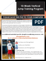 10 Week Vertical Jump Training Program