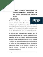 """""""Obtención Del Biodiesel Por Transesterificación Enzimática de Las Grasas Residuales Del Camal de Sausa"""""""