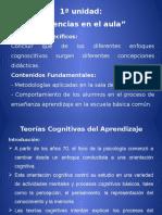 1ª Unidad Teorías Cognitivas Del Aprendizaje (1)