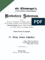 Johann Andreas Eisenmenger - Entdecktes Judenthum (1893)
