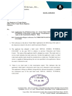Reply to Examination Report by Loganathan
