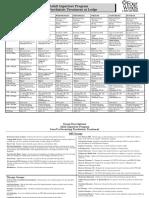 Adult Psychiatric Inpatient Unit patient schedule