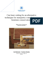 Can Laser Cutting Be an Alternative Technique for Marquetry Completion in Furniture Conservation