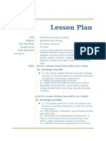 writing poetry lesson plan