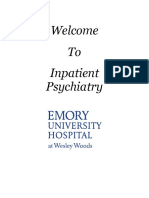 Inpatient Psychiatric Unit Patient Handbook
