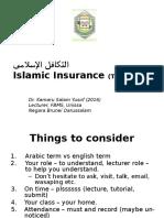 Islamic Insurance 2016 - All Topic - iPad