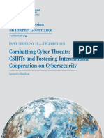 Combatting Cyber Threats Csirts
