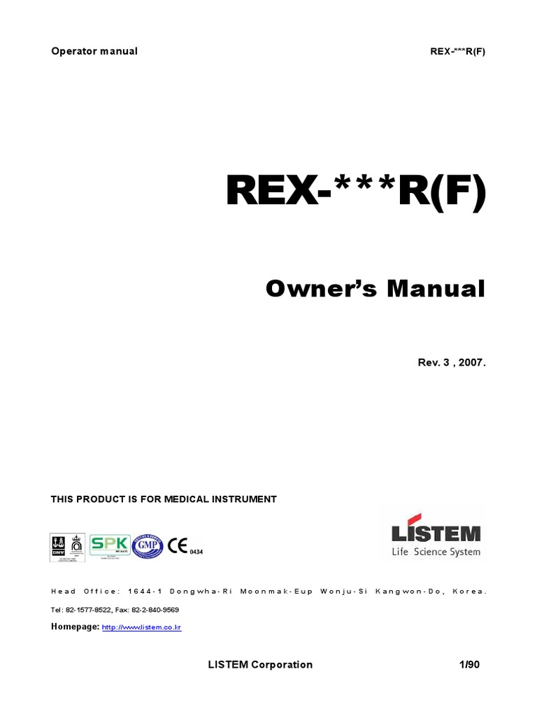 Rex R F Operato Radiation Protection Manufacturing Transformer Wiring Diagram
