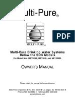 Mp Aquaversa Below Sink Av Manual