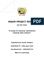 major project report on idea cellular customer.docx