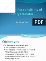 the legal responsibility for every educator